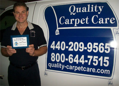 Quality Carpet Care of Mentor earns the Best of the Best award from The News Herald